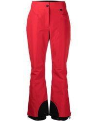 3 MONCLER GRENOBLE Wide-leg Two-tone Trousers - Red