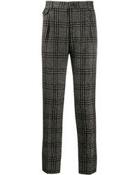 Dolce & Gabbana Pantalon à motif tartan - Vert