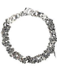Emanuele Bicocchi - Woven Chain Bracelet - Lyst