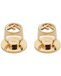 Fendi Adhesive Ff Motif Phone Ring Holders - Metallic