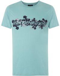 Emporio Armani - Logo Print T-shirt - Lyst