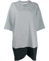 MM6 by Maison Martin Margiela Oversized Sweatshirt Dress - Gray