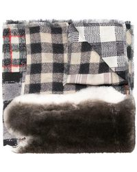 Pierre Louis Mascia - Checked Print Elongated Scarf - Lyst