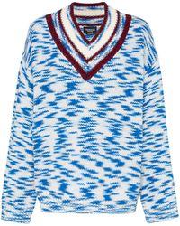 CALVIN KLEIN 205W39NYC Vネック セーター - ブルー