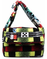 Chopova Lowena Color-block Geometric Shoulder Bag - Black
