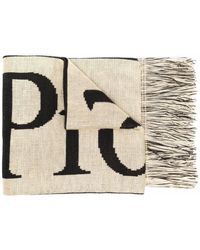 Aries Fringed-edge Scarf - Natural