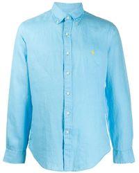 Ralph Lauren Camicia con ricamo - Blu