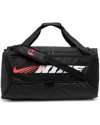 Nike Дорожная Сумка С Логотипом - Черный