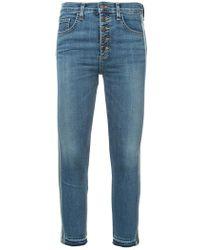 Veronica Beard - Side Stripe Cropped Jeans - Lyst