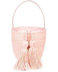 Cesta Collective Woven Tassel Shoulder Bag - Black