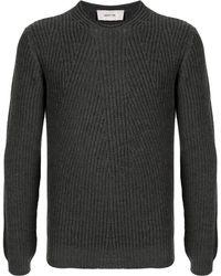 Cerruti 1881 リブニット セーター - グレー