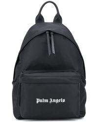 Palm Angels ロゴ バックパック - ブラック