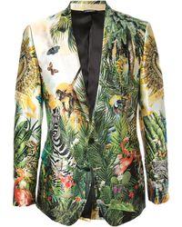 Dolce & Gabbana Blazer Met Print - Meerkleurig