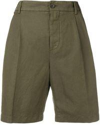 Aspesi High-waisted Chino Shorts - Green