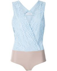 Olympiah Body Petale con encaje - Azul