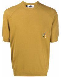 Anglozine ロゴ Tシャツ - ブラウン