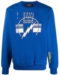 DIESEL ロゴ スウェットシャツ - ブルー