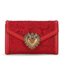 Dolce & Gabbana Devotion クラッチバッグ - レッド