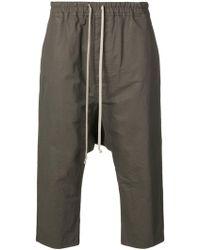 Rick Owens - Drawstring Drop Crotch Trousers - Lyst