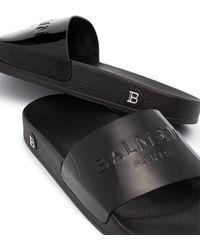 Balmain Лакированные Шлепанцы Calypso - Черный