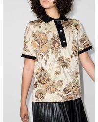 Commission Market フローラル ポロシャツ - マルチカラー