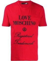 Love Moschino ロゴ Tシャツ - レッド