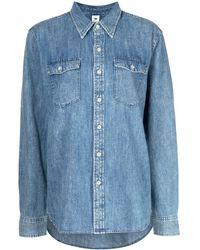 WARDROBE.NYC Camisa vaquera con botones - Azul