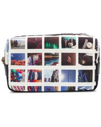 Paul Smith Photographic Print Wash Bag - White