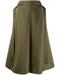 Marni Falda midi con cinturón - Verde