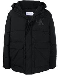 Calvin Klein Пуховик С Логотипом - Черный
