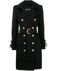 Balmain Double-breasted Trench Coat - Black