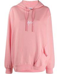 MSGM Худи Оверсайз С Вышитым Логотипом - Розовый
