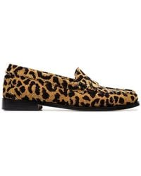 RE/DONE Leopard Print Fabric Flat Loafers - Multicolour