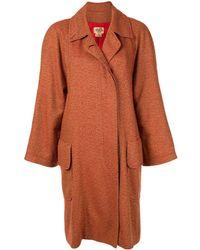 Hermès Однобортное Кашемировое Пальто Pre-owned - Оранжевый