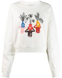 Off-White c/o Virgil Abloh Sweatshirt mit Logo - Weiß
