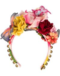 Dolce & Gabbana Ободок С Цветочным Декором - Красный