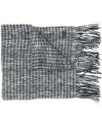 Saint Laurent Фактурный Шарф - Серый