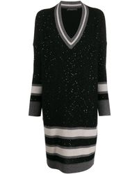 Fabiana Filippi スパンコール ニットドレス - ブラック