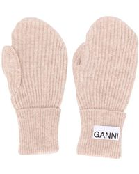 Ganni Logo-patch Mittens - Multicolor
