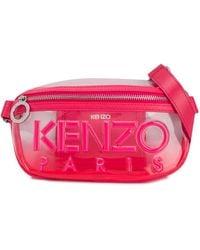 KENZO Kombo Transparent Belt Bag - Pink
