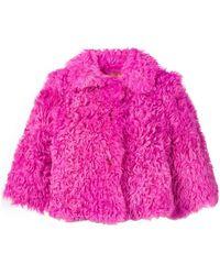 RED Valentino Lambfur Jacket - Pink