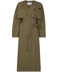 Ganni Oversized Trenchcoat - Groen