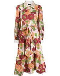 Marc Jacobs Платье С Цветочным Принтом - Розовый