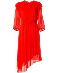 Calvin Klein ジョーゼット ドレス - オレンジ