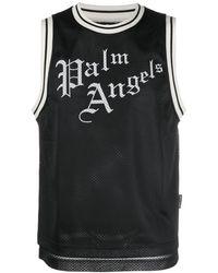 Palm Angels Basketbal Jersey Met Logoprint - Zwart