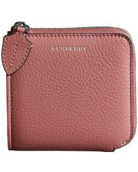Grainy Leather Square Ziparound Wallet - Red Burberry uMIYiKc