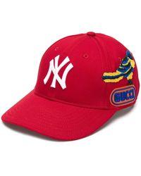 Gucci 'NY Yankees' Baseballkappe - Rot