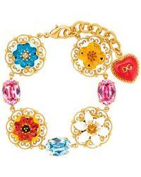 Dolce & Gabbana - Flower Pendant Bracelet - Lyst