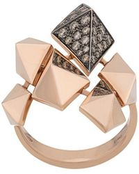 Anapsara 18kt Rose Gold Evolution Diamond Ring - Metallic
