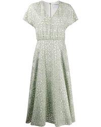 Harris Wharf London フローラル ドレス - グリーン
